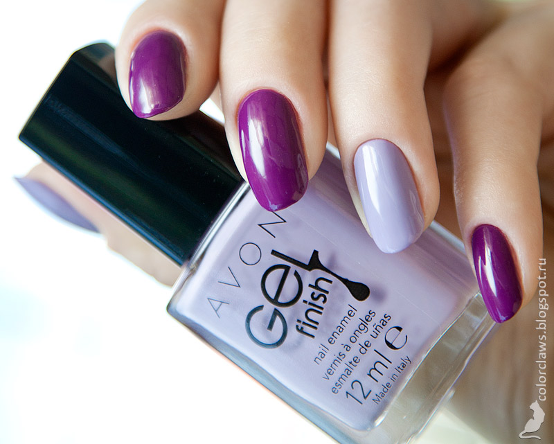 Avon Gel Finish Purplicious + Lavender Sky