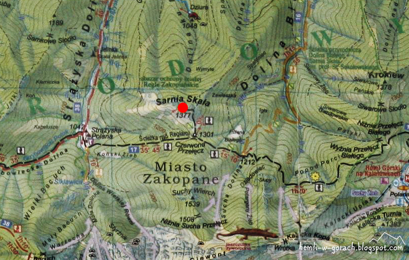 Sarnia Skała - mapa