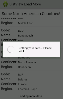 android listview load more data