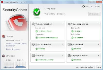 promoção g data internet security 2013 2012