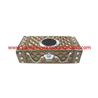 Box Tissue Kotak Mahkota Berlian Gold