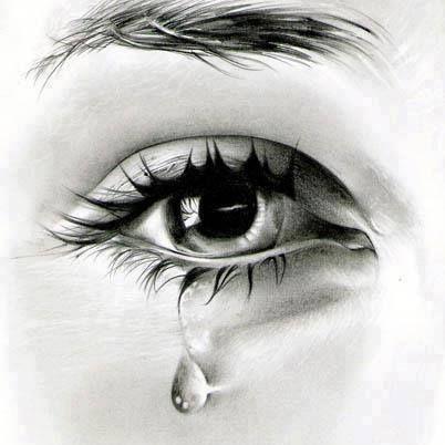 Imagenes de ojos tristes a lapiz  Imagui