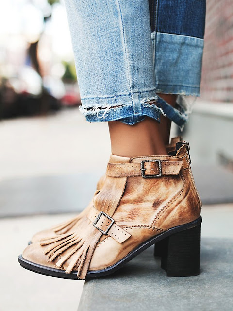 FP collection tan boots, free people tan fringe boots, tan fringed boots, fringe buckle boots,