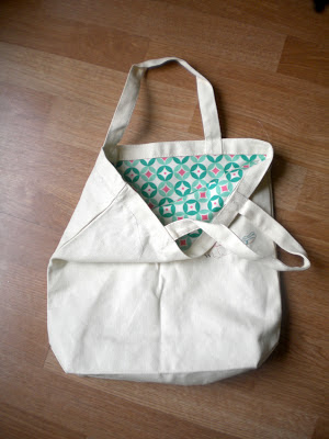 meags and me Canvas Tote Bag Makeover Tutorial