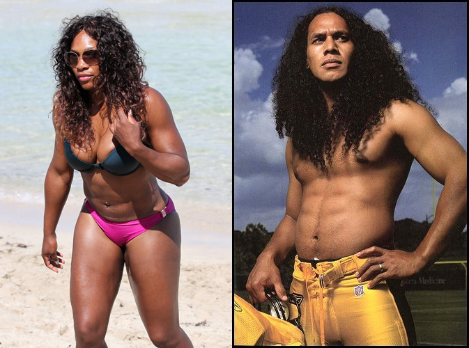 Serena Williams Troy Polamalu Look Alike