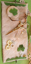 Shamrock Bunny Needle Case - Inside View