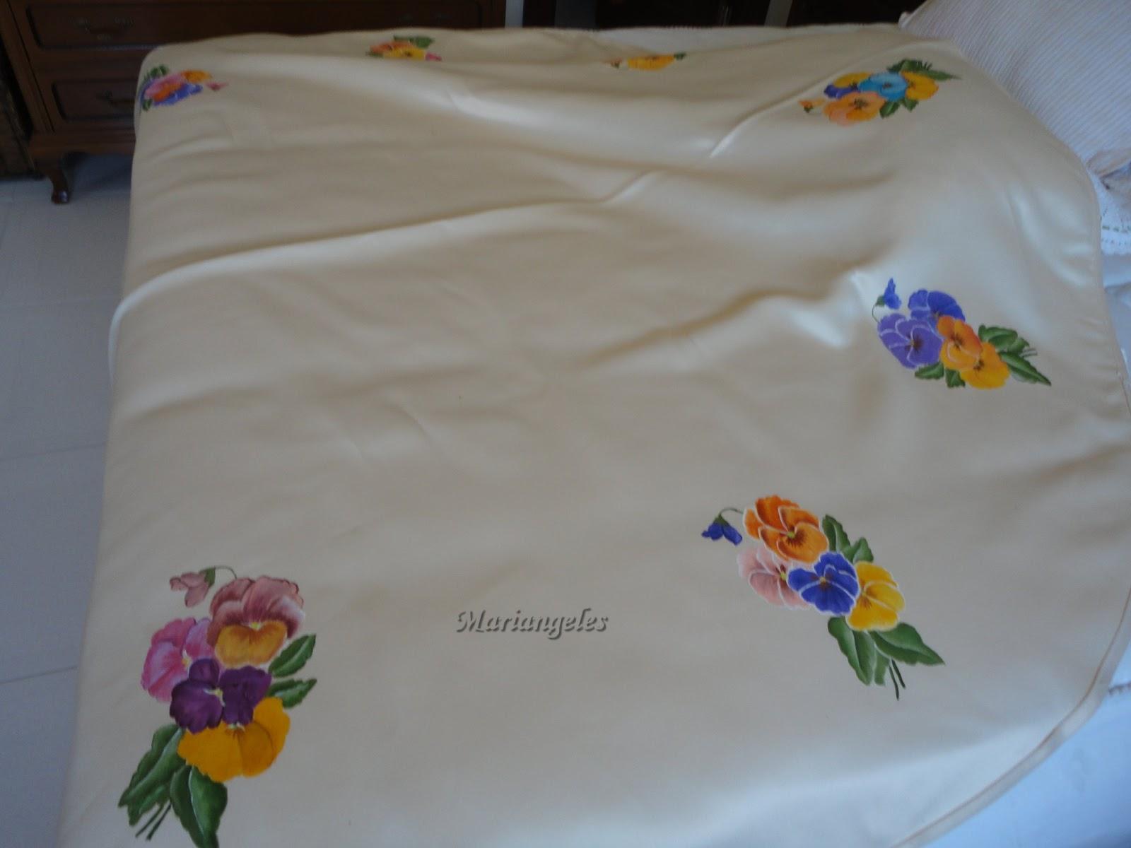 Pintura en tela manteles redondos for Manteles de tela