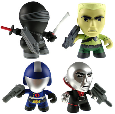 G.I. Joe Mini Figure Series 1 by The Loyal Subjects - Snake Eyes, Duke, Cobra Commander & Destro Vinyl Figures