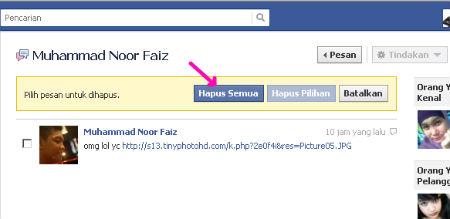 Cara Hapus Semua Pesan Inbox di Facebook