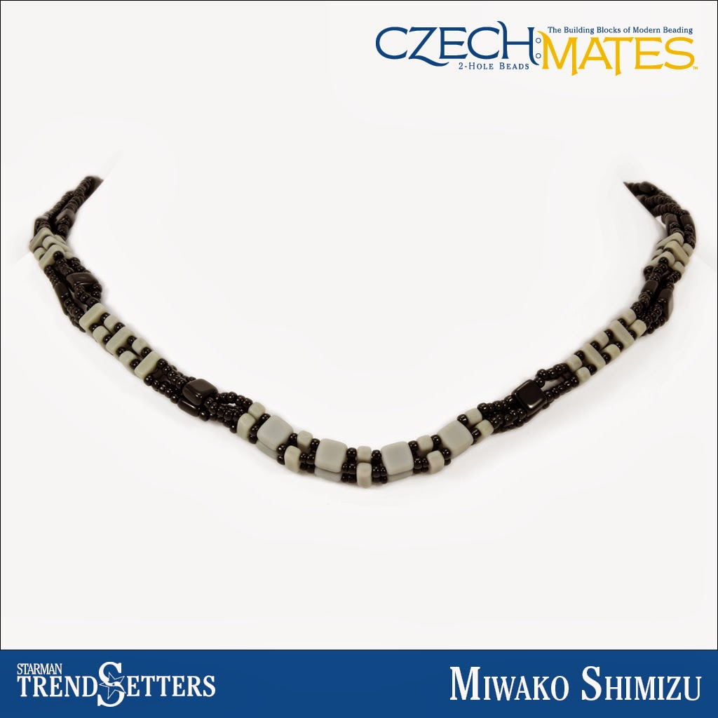 CzechMates Brick necklace by Starman TrendSetter Miwako Shimizu