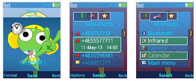 KERORO軍曹SonyEricsson手機主題for Elm/Hazel/Yari/W20﹝240x320﹞