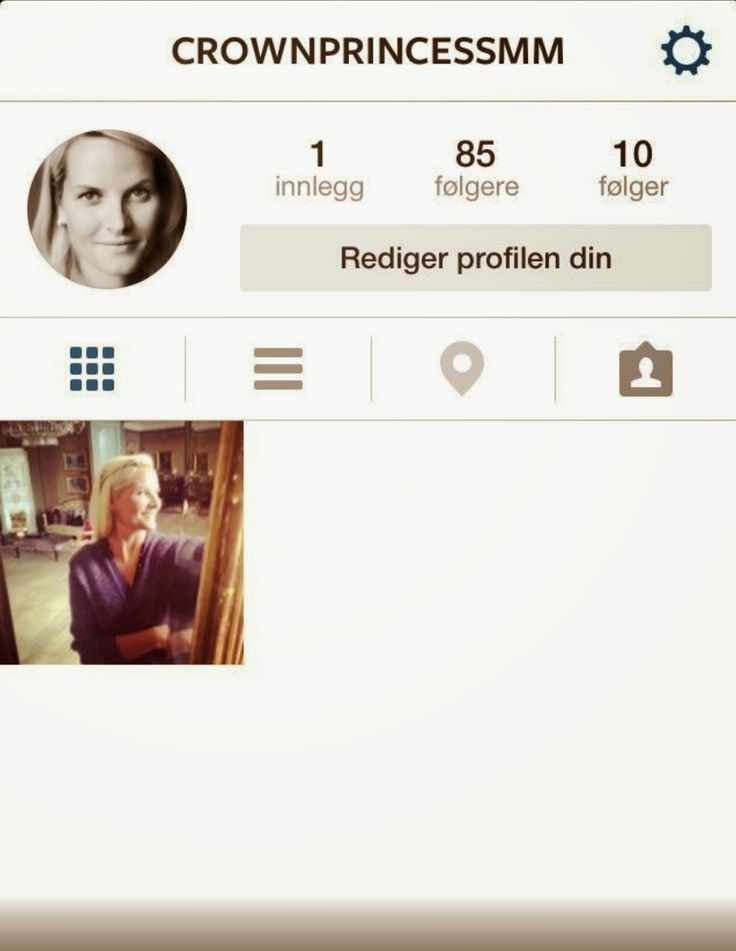 Crown Princess Mette Marit is now on Instagram! Follow her on @crownprincessmm.