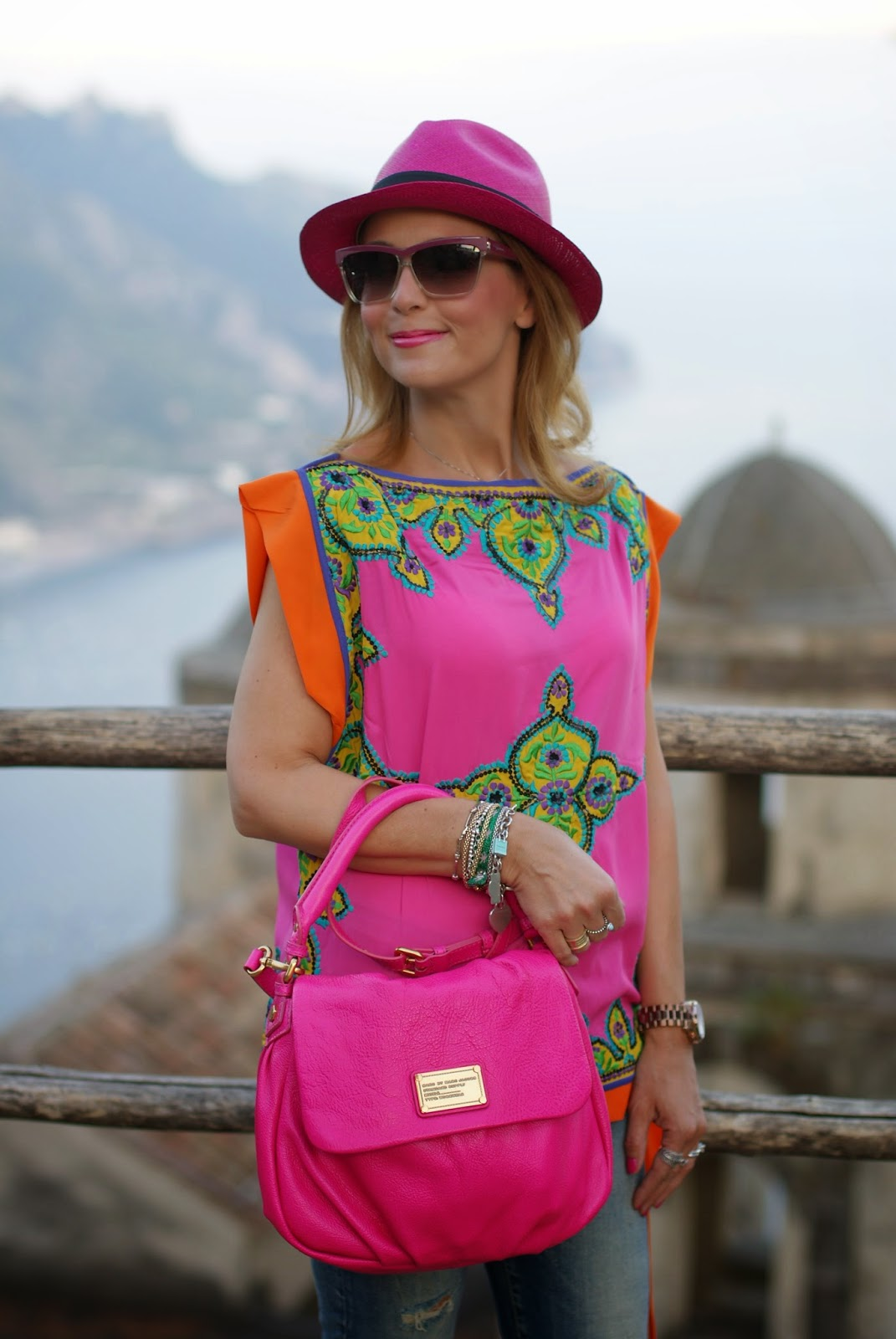 Preeti S Kapoor top, Marc by Marc Jacobs Little Ukita bag, Roberto Cavalli sunglasses, Ecua-Andino hat, Fashion and Cookies, fashion blogger