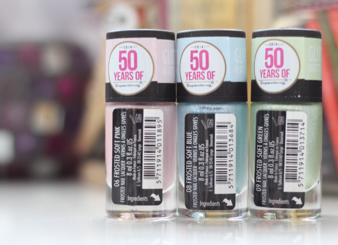 back of GOSH 50th anniversary nail polishes