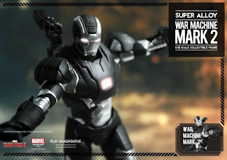 "Play Imaginative Super Alloy Iron Man 3 6"" War Machine Mark II Figure"