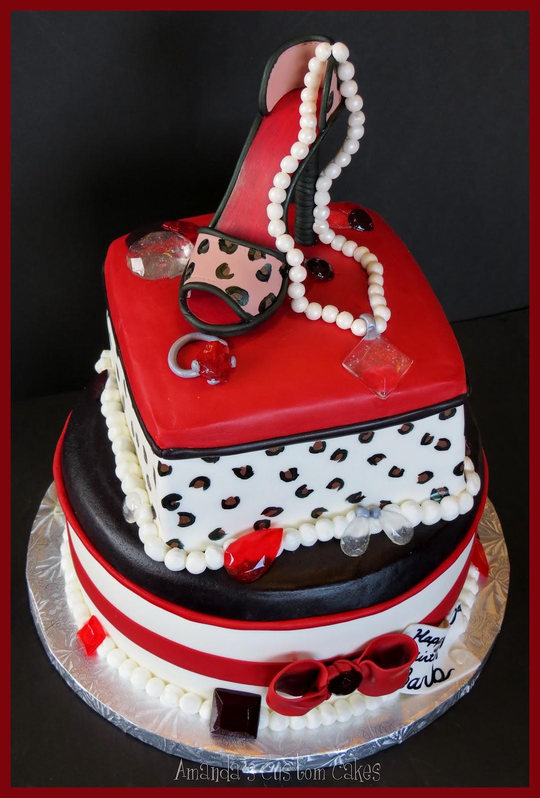 Amanda S Custom Cakes Fashionista Shoe Cake