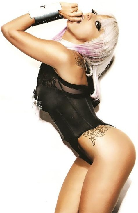 Lady Gaga Hip Tattoo
