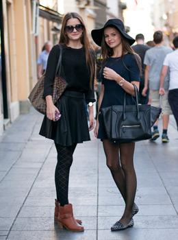 Sestrične Marija i Iva Pandurević, floppy hat and Celine bag