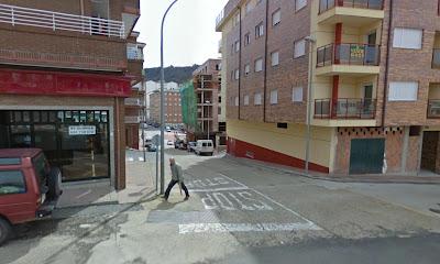 Calle tejedores, lugar en el que tuvo lugar uno de los últimso accidente