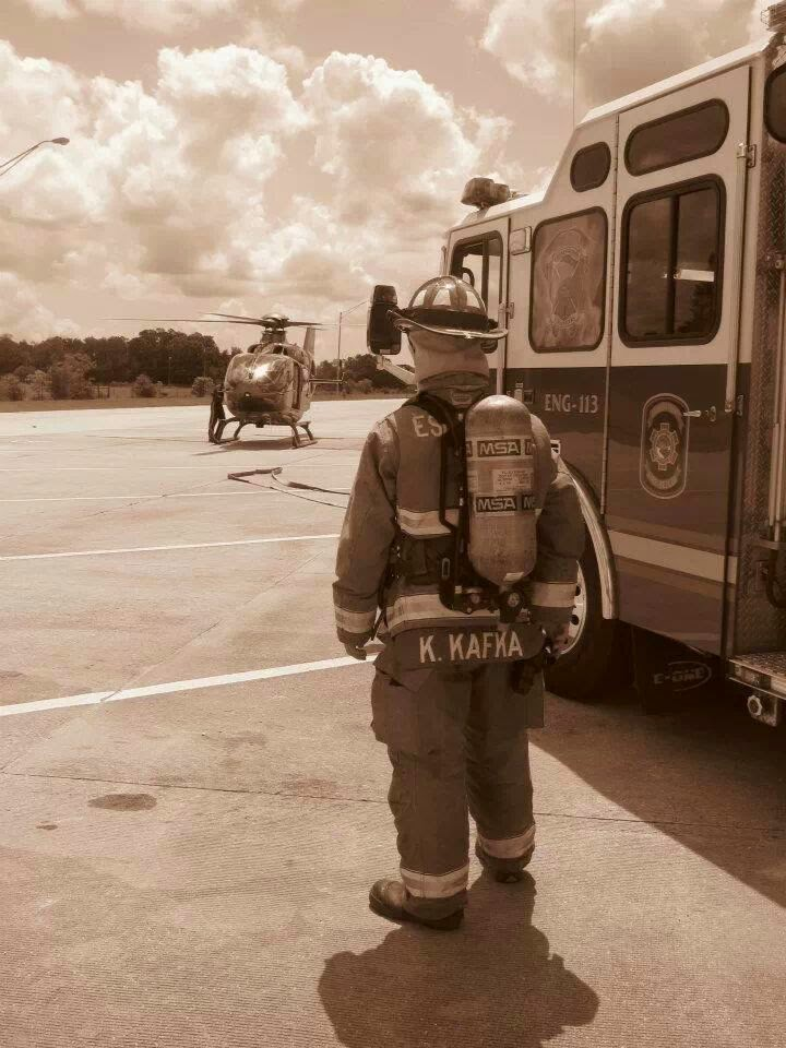 Kerner Kafka Fire Fighter with Escambia County Fire rescue