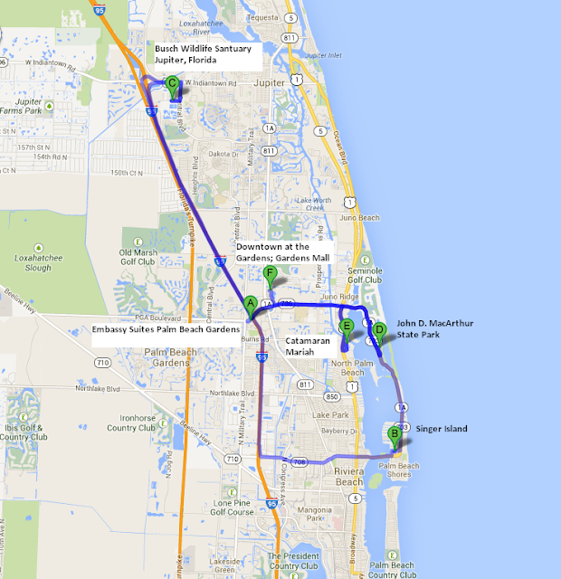 Map of the Hidden Adventures in The Palm Beaches