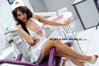 hot Anggita Sari for Popular World Magazine, Nurse Costume (Part 2)