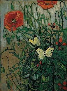 Borboletas e Papoulas - Van Gogh
