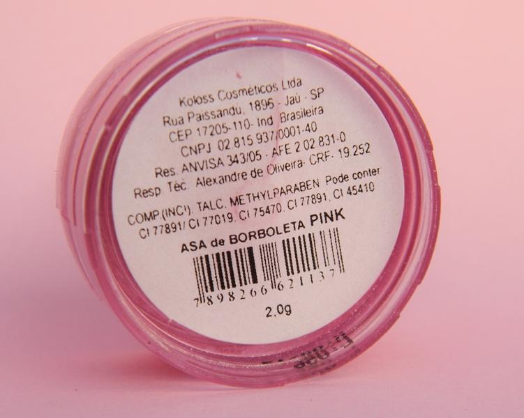 sombra asa de borboleta Koloss rosa pink