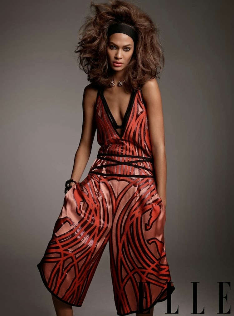 Joan Smalls in Gucci Spring Elle US Jan 2014
