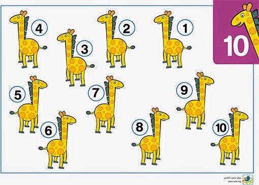 ملصق تعليمي للأطفال الأرقام من واحد إلى عشرة 10-1 www.osfor.org