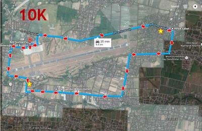 Rute Angkasa Pura Airport Running Series 1 Solo, lomba lari di bandara adi soemarmo