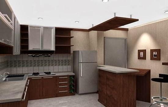 Interior dapur minimalis bergaya elegan desain dapur for Wastafel kitchen set