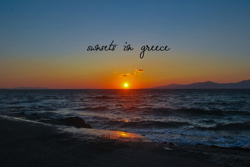 Sunsets in greece blog post featuring the top 3 sunset experiences for me