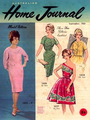 cover 1961 Australian Home Journal Fashion Magazine