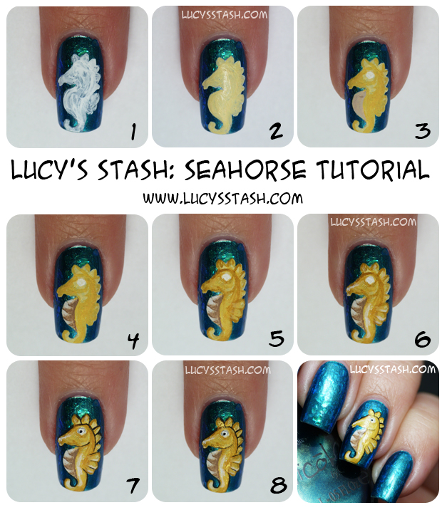 Lucy's Stash - Seahorse manicure tutorial