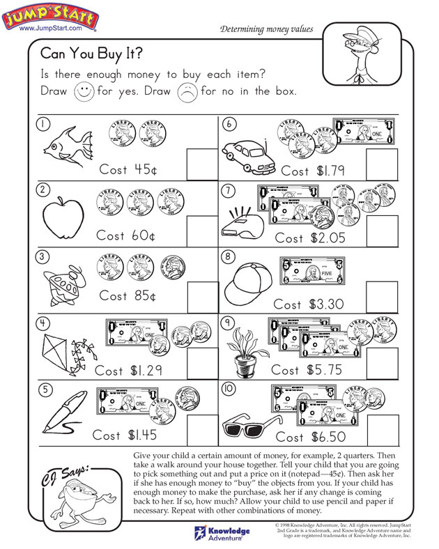 LRC320 Math Lesson Plan for 2nd grade April 2012 – Jumpstart Worksheets