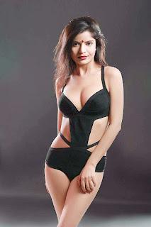 Gehana Vasisth in black bikini