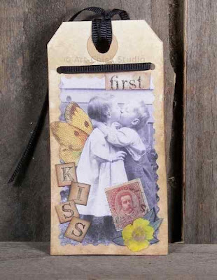 First Kiss Altered Tag