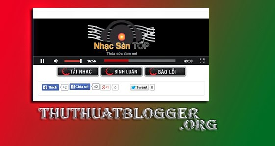 Thêm player vào blogspot bằng ANCMusic