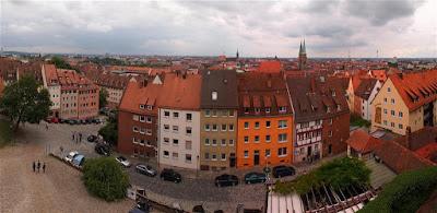 Vista panorámica de Núremberg desde el Kaiserburg