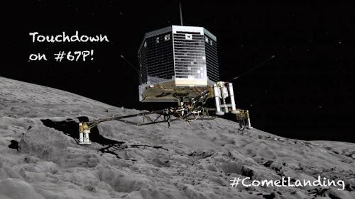 O módulo Philae aterrou no cometa, mas não conseguiu se fixar.