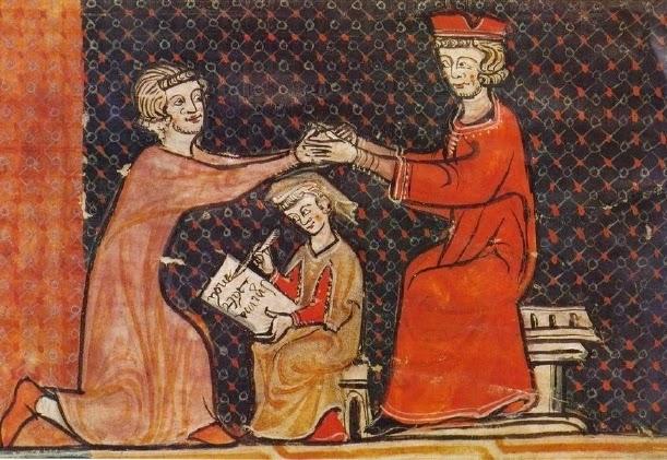Investitura del vassallo da parte del Signore feudale