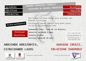 ENCUENTRO DE MUJERES FEMINISTAS. Alianzas político feministas.
