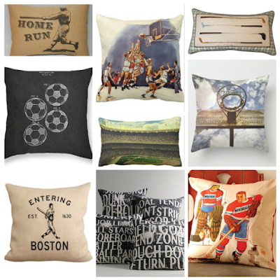vintage sports pillows