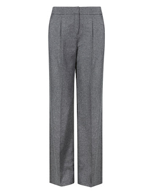 Marks and Spencer Button Safe Luxury wide legged trousers