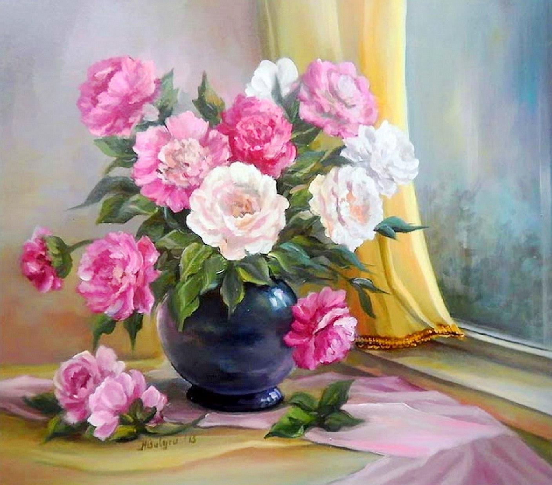 Cuadros pinturas oleos pinturas de jarrones de flores - Floreros modernos ...