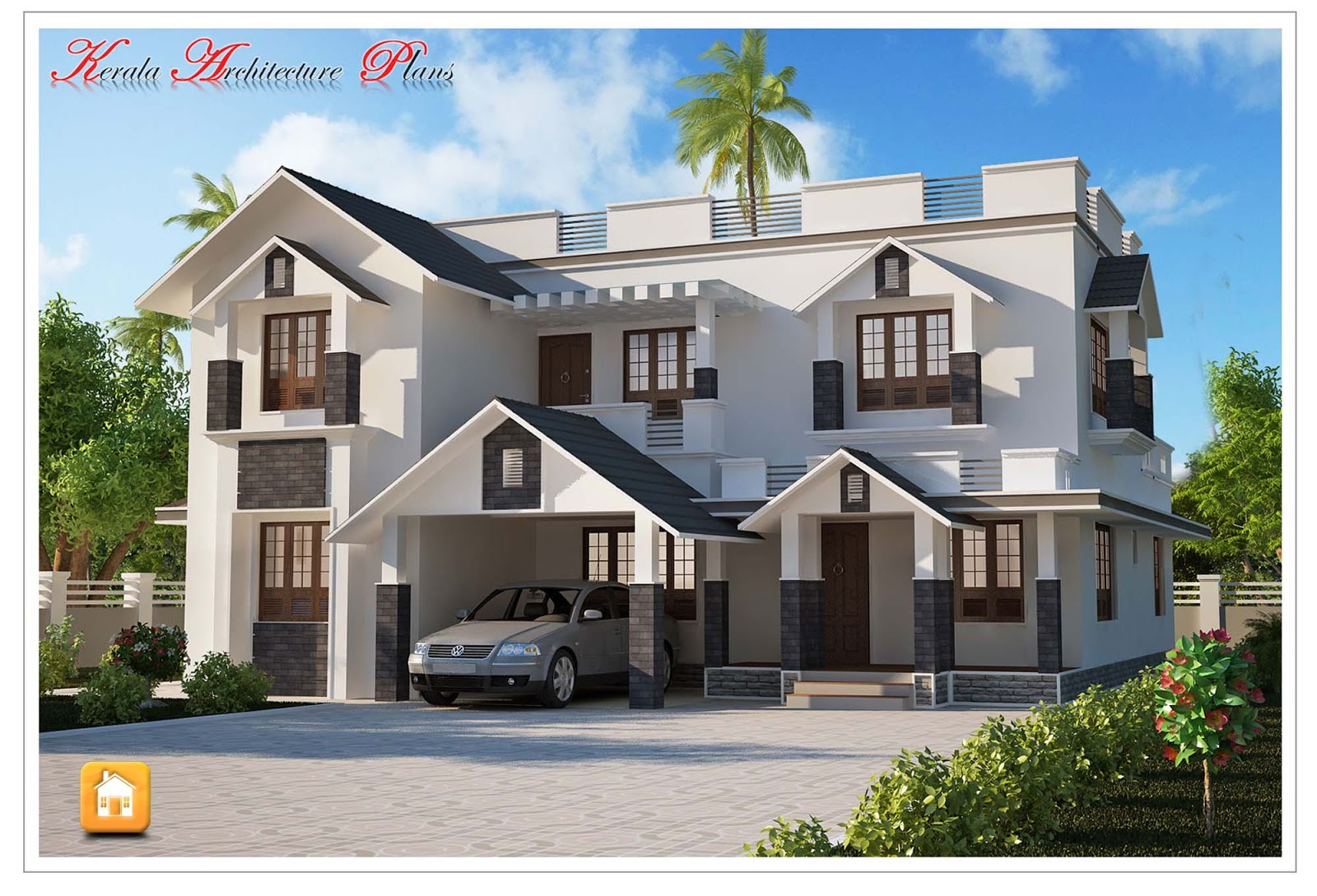 3000 square feet modern style kerala house plan for 3000 square foot home