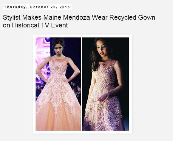Maine Mendoza and Kim Chiu same gown