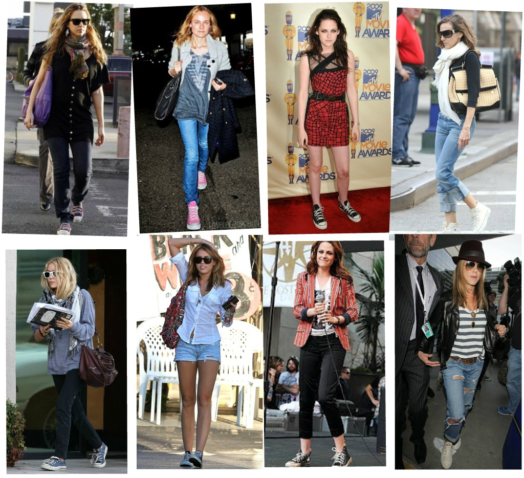 Celebrity Street Style Love Converse Blog De Moda Femenina Y Tendencias Shoes And Basics By