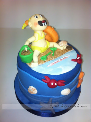 tarta niña en la playa modelada1